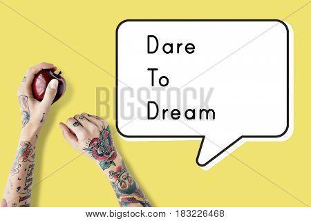 Positive Motivation Dare To Dream Quote