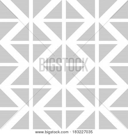 Vector Abstract Seamless Pattern with Color Triangles