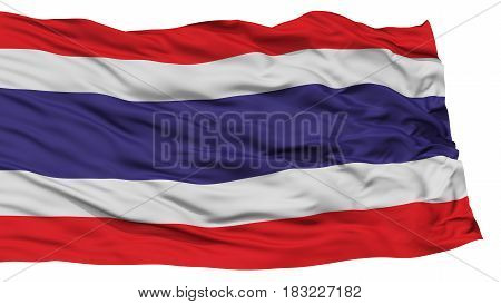 Isolated Thailand Flag, Waving on White Background, High Resolution