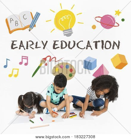 Kids Children Early Education Icons