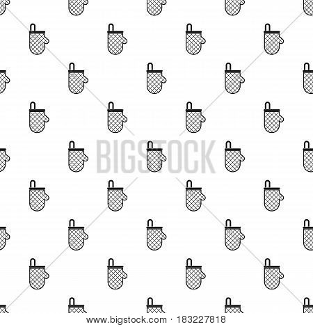 Kitchen protective glove pattern seamless in simple style vector illustration