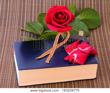 Sant Jordi. Tradition in Catalonia to give a book and a rose one day a year.