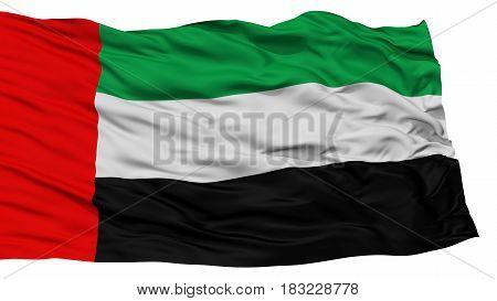 Isolated United Arab Emirates Flag, Waving on White Background, High Resolution