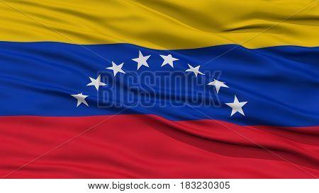 Closeup Venezuela Flag, Waving in the Wind, High Resolution