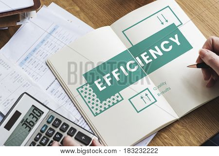 Business efficiency performance on notebook