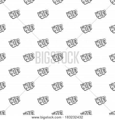 WTF, comic book bubble text pattern seamless in simple style vector illustration