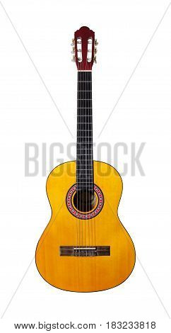 Musical instrument - Classic guitar on a white background