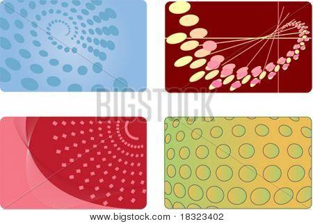 Set of Abstract Backgrounds für Identität Visitenkarte