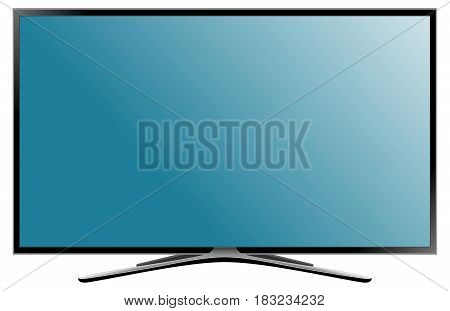 TV flat screen lcd plasma. Realistic vector illustration