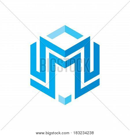 M letter - vector logo template concept illustration. Graphic design element. Abstract creative sign.