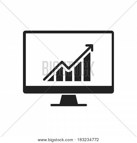 monitor Icon Vector isolated on white .