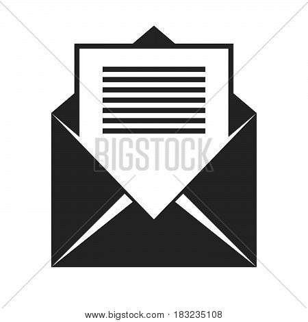 opened envelope Icon Vector isolated on white .