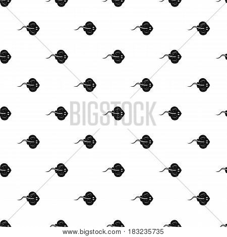 Stingray fish pattern seamless in simple style vector illustration