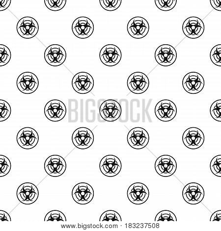 Sign of biological threat pattern seamless in simple style vector illustration