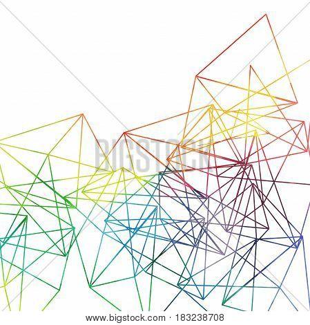 Abstract rainbow lines backdrop, vector watercolor drawing