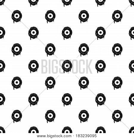 Scary eyeball pattern seamless in simple style vector illustration