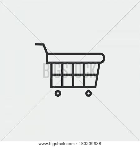 shopping cart icon isolated on white background .
