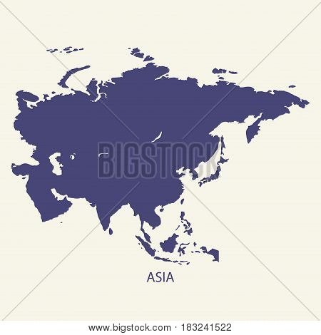 ASIA MAP, MAP OF ASIA ILLUSTRATION VECTOR