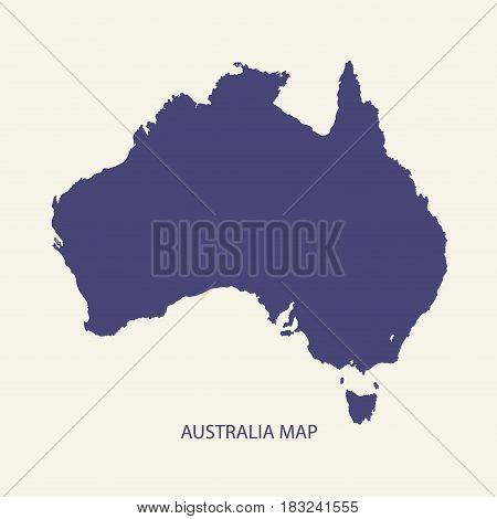 AUSTRALIA MAP, MAP OF AUSTRALIA ILLUSTRATION VECTOR