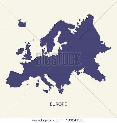EUROPE MAP, MAP OF EUROPE ILLUSTRATION VECTOR