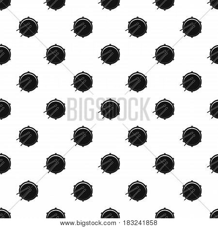 Drum pattern seamless in simple style vector illustration