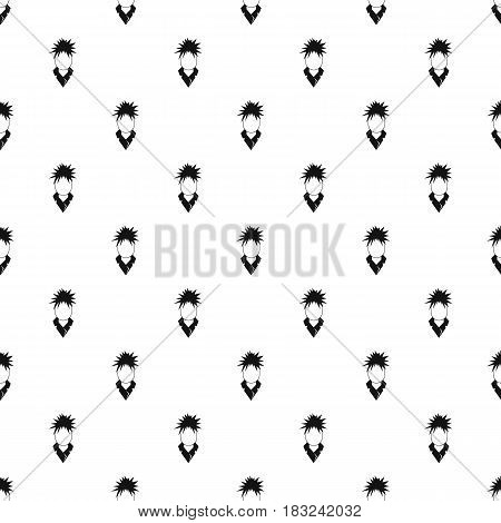 Singer pattern seamless in simple style vector illustration
