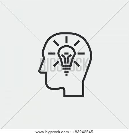 idea icon isolated on white background .