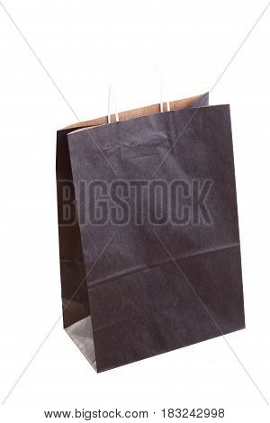 Shopping black recycle gift bags and isolated on white background