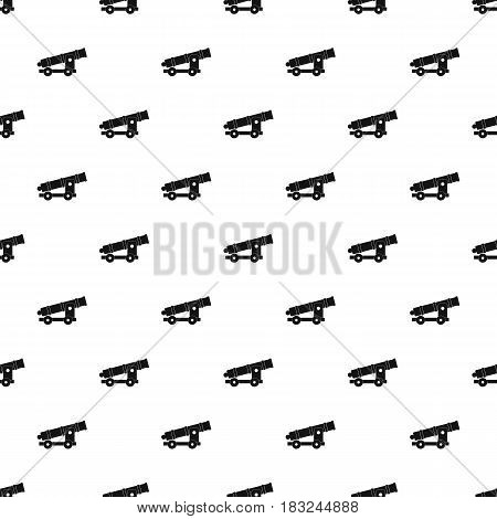 Cannon pattern seamless in simple style vector illustration