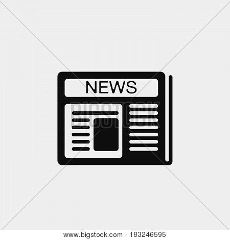News icon isolated on white background .