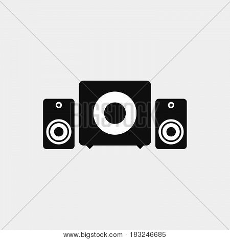Sound system icon isolated on white background .
