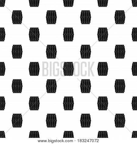 Wooden barrel pattern seamless in simple style vector illustration
