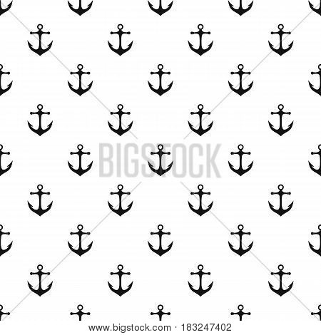 Anchor pattern seamless in simple style vector illustration