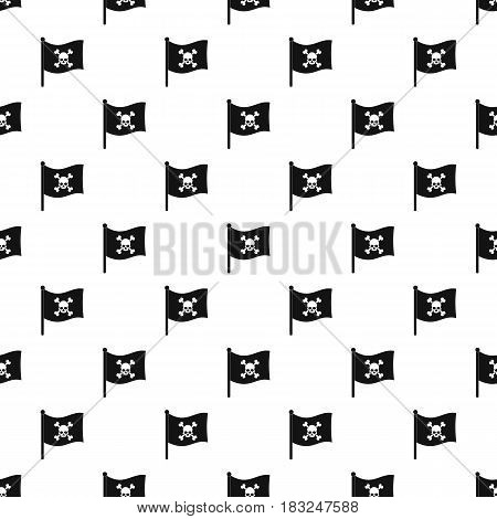 Pirate flag pattern seamless in simple style vector illustration