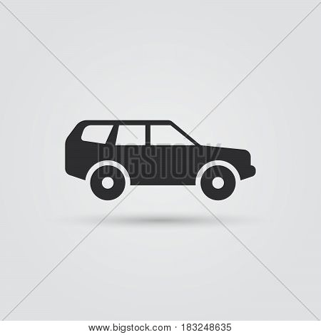 SUV Car icon Vector illustration isolated on white background .