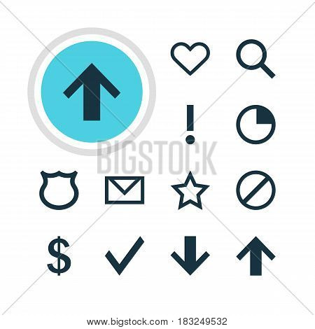 Vector Illustration Of 12 User Icons. Editable Pack Of Seek, Conservation, Alert And Other Elements.