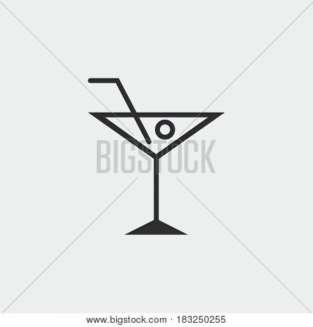 cocktail icon isolated on white background .
