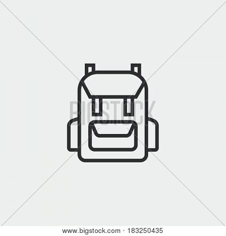 rucksack backpack icon isolated on white background .
