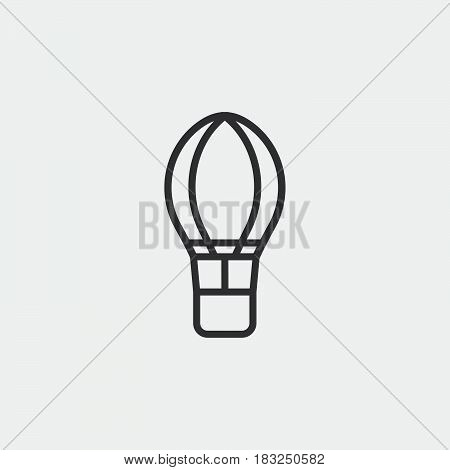 hot air baloon icon isolated on white background .