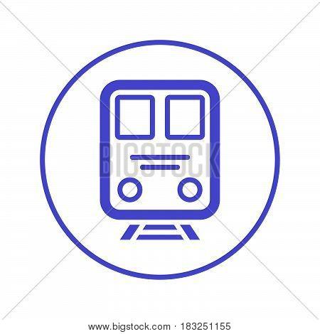 Train circular line icon. Round sign. Flat style vector symbol