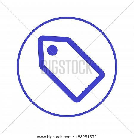 offer coupon tag circular line icon. Round sign. Flat style vector symbol