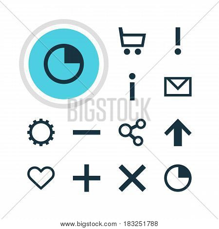 Vector Illustration Of 12 User Icons. Editable Pack Of Alert, Letter, Minus And Other Elements.
