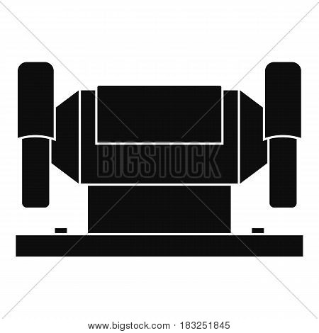 Metalworking machine icon in simple style isolated on white background vector illustration