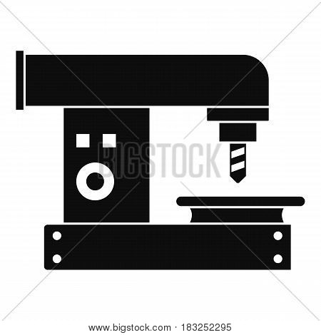 Drilling machine icon in simple style isolated on white background vector illustration