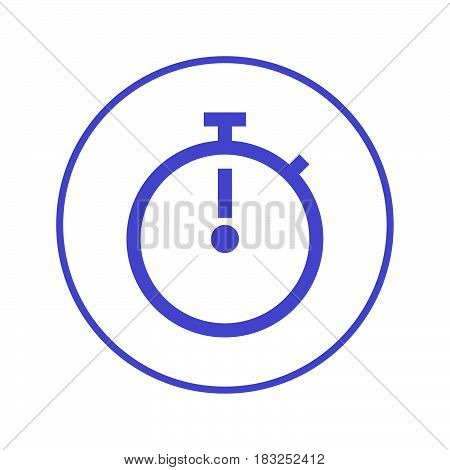 Stopwatch chronometer circular line icon. Round sign. Flat style vector symbol