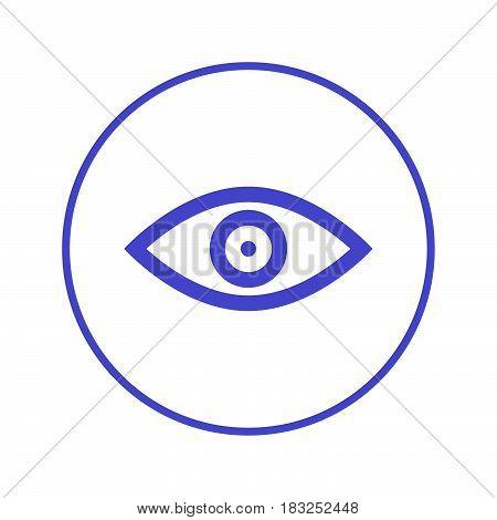 Eye vision circular line icon. Round sign. Flat style vector symbol