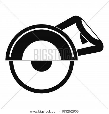 Cut off machine icon in simple style isolated on white background vector illustration