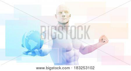 Global Subscription Services System as a Platform 3D Illustration Render