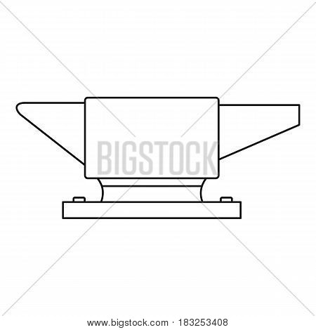 Anvil icon in outline style isolated on white background vector illustration
