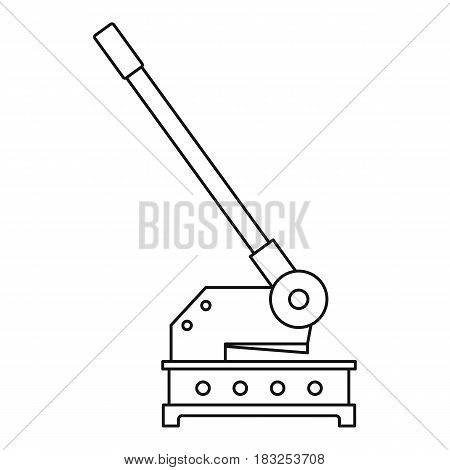 Cutting machine icon in outline style isolated on white background vector illustration